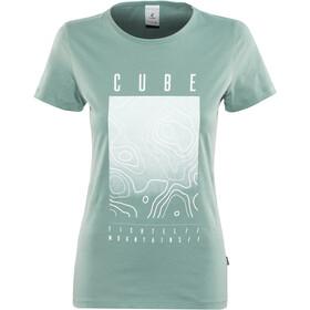 Cube Fichtelmountains T-Shirt Dame dark mint